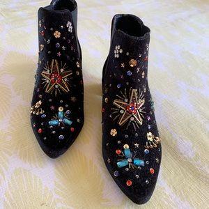 Bedazzled Velvet Boots.